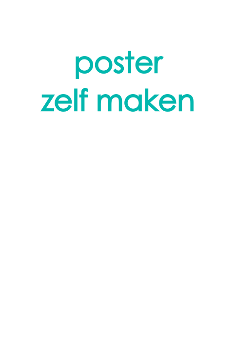 Poster staand