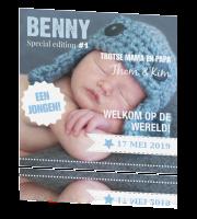 geboortekaartje met foto voor jongen