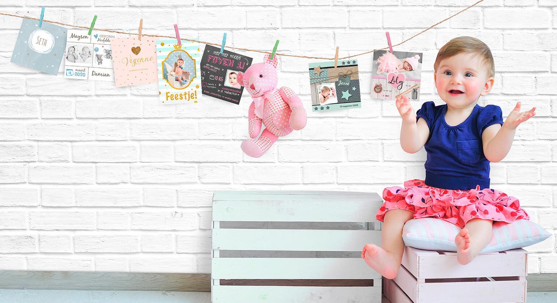 3daae989007284 Geboortekaartjes van HierBenIk babykaartjes voor jongens en meisjes