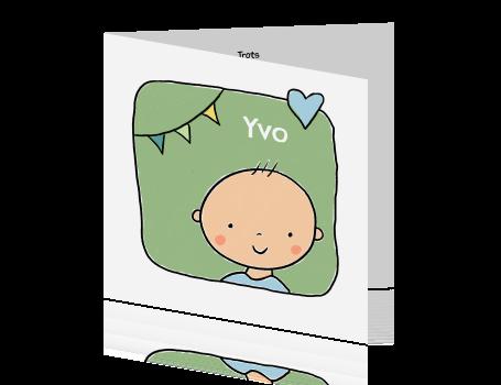 Geboortekaartje baby jongen slinger