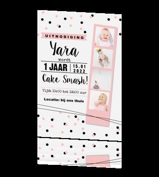 Meisjes Uitnodiging Voor Een 1e Verjaardag